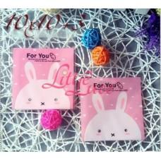 Plastik Cookies 10x10 Bunny Pink