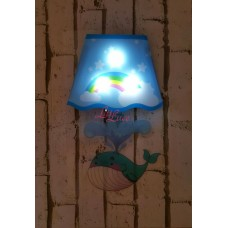 WALL LAMP STICKER WHALE