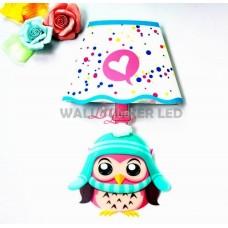 WALL LAMP STICKER OWL HAT