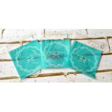 PLASTIK COOKIES 10X10 LACE BLUE