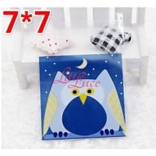 Plastik Cookies 7x7 Blue Owl