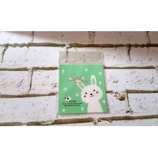 Plastik Cookies 10x10 Bunny Bird Green