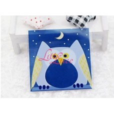 Plastik Cookies 10x10 Blue Owl