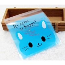 Plastik Cookies 14x14 Happy Cat