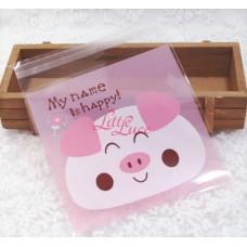 Plastik Cookies 14x14 Happy Pig