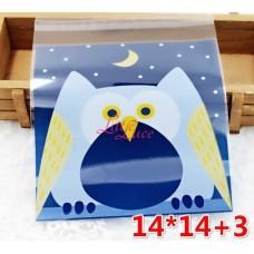 Plastik Cookies 14x14 Blue Owl