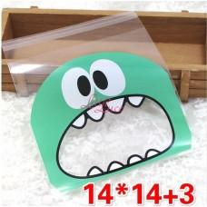 Plastik Cookies 14x14 Green Mouth