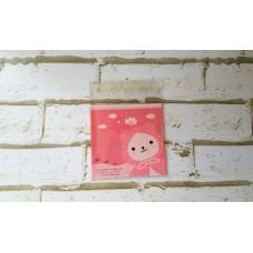 Plastik Cookies 10x10 Bunny Hood Pink
