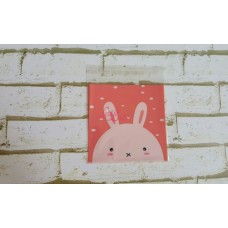 Plastik Cookies 14x14 Bunny Pink