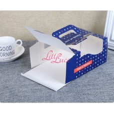 Cake Box Handmade Blue