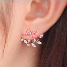 Diamond Leaves Earing