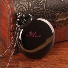 Pocket Watch Vintage Black Glossy