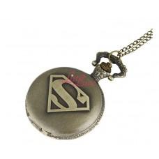 Pocket Watch Necklace Superman