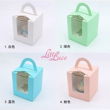 Cupcake Box Single Plaid Green