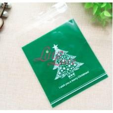 Plastik Cookies 10x10 Christmas Tree Green