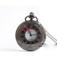 Pocket Watch Black Roman White Inner