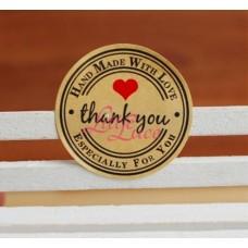 Sticker Thank You Heart