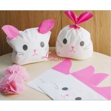 Plastik Kuping Bunny Pink 14x11