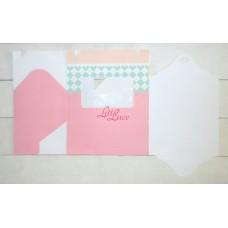 Cupcake Box 6 Pink Plaid