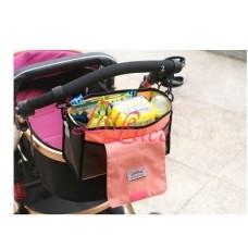 Baby Hanging Stroller Bag Pink Stripe