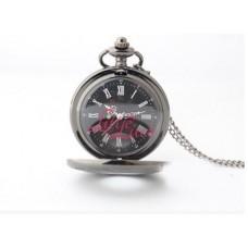 Pocket Watch Necklace Classic Black