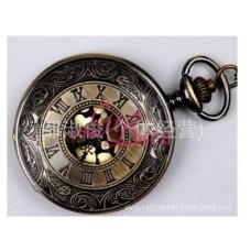 Pocket Watch Necklace Bronze Twist Roman