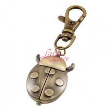 Keyring Watch Bronze Lady Bug