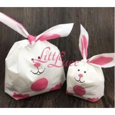 Plastik Kuping Pink Rabbit 13x10