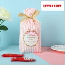Plastik Cookies Tie Striped Pink 14x17