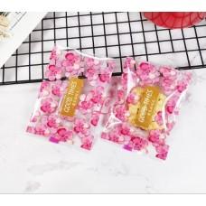 Plastik Cookies 7x9 Trans Pink Flower