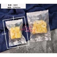 Plastik Cookies 5x8 White Frame Flower