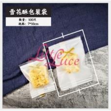 Plastik Cookies 7x9 White Bow Lace
