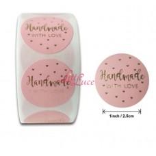 Sticker Roll Handmade 01 Pink