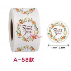 Sticker Roll Thank You 10