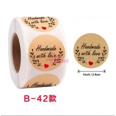 Sticker Roll Handmade Love