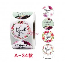 Sticker Roll Thank You 14