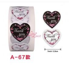 Sticker Roll Thank You 18
