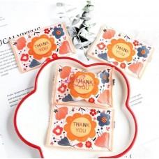 Plastik Cookies 7x9 Thankyou Floral