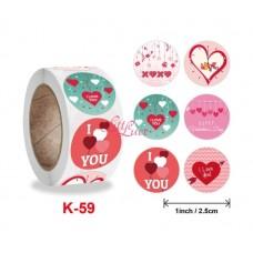 Sticker Roll  Love You