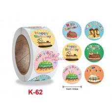 Sticker Roll Happy Birthday 2