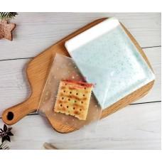 Plastik Cookies 7x7 Blue Dots
